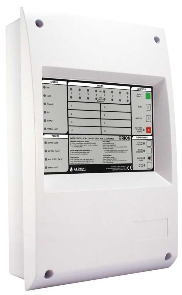 Central de alarme de incêndio ORION 8 GFE 572 Convencional