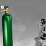 Morsa pneumática de pressurização de extintores