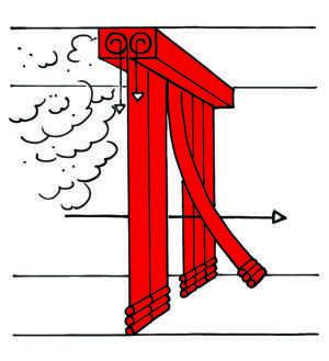 Stripecoil - Cortina Corta-Fumaça (para passagem de pessoas)