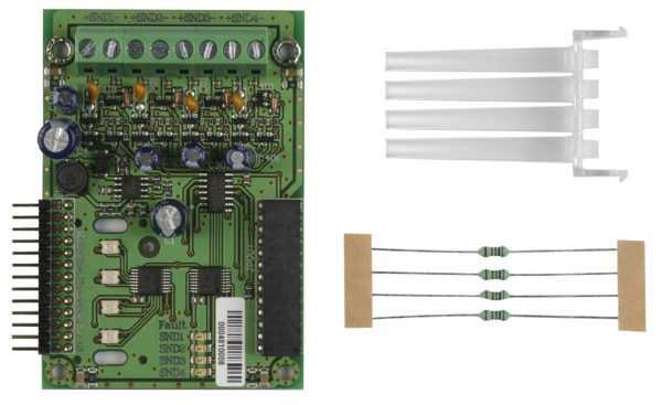 MS4 - Módulo de Expansão de Sirenes - 4 Saídas de Sirene para MAG8Plus